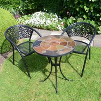 Ondara 2 Seater Bistro Set with Florence Chairs MultiColoured