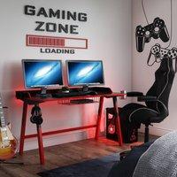 Fuego Gaming Desk Black