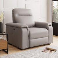 Bianca Electric Reclining Armchair Grey