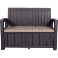 Faro 2 Seater Black Storage Bench Black