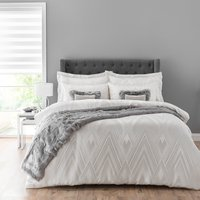 Astaire Silver Jacquard Duvet Cover and Pillowcase Set Silver