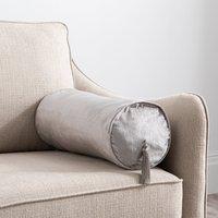 Keston Bolster Cushion Silver