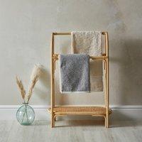 Bent Cane Anti Bacterial Freestanding Towel Rail Natural (Brown)