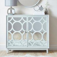 Delphi Grey Small Slim Cabinet Light Grey