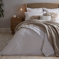 Dorma Purity Kempley Jacquard White Duvet Cover and Pillowcase Set White