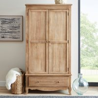 Giselle Double Wardrobe Wood (Brown)
