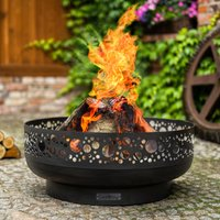 Boston Steel Decorative Fire Bowl Black