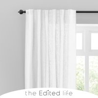 Cartmel Linen White Single Voile Panel White