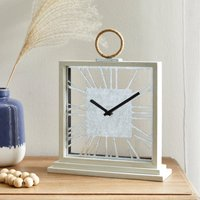 Coastal Mantle Clock White