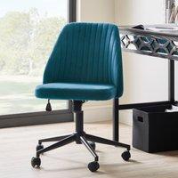 Mya Velvet Office Chair Peacock