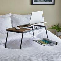 Dawson Rustic Wood Effect Laptop Stand Mid Oak (Brown)