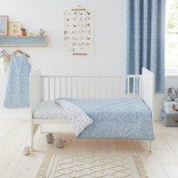 Doodle Dino Blue 4 Tog Cot Bed Quilt Light Blue