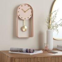 Metal Pendulum Clock Pink