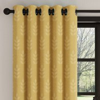 Vete Ochre Eyelet Curtains Ochre (Yellow)