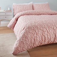 Catherine Lansfield So Soft Pinsonic Floral Blush Duvet Cover and Pillowcase Set Blush (Pink)