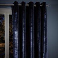 Keston Navy Eyelet Curtains Navy