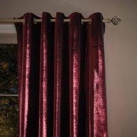 Keston Claret Eyelet Curtains Claret