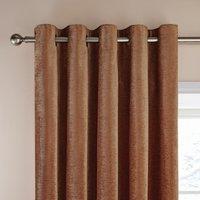 Dorma Lymington Roasted Pecan Eyelet Curtains Brown
