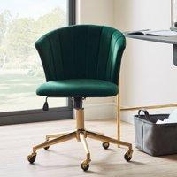 Kendall Velvet Office Chair Bottle (Green)