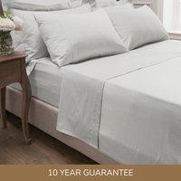 Dorma 300 Thread Count 100% Cotton Sateen Plain Flat Sheet White