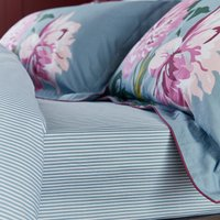 Joules Melrose Floral Blue 100% Cotton Fitted Sheet Light Blue