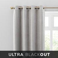 Isla Blackout Ultra Chateau Grey Eyelet Curtains Chateau Grey