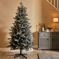 6ft Snowy Blue Spruce Christmas Tree White
