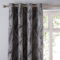 Malawi Graphite Eyelet Curtains Graphite (Grey)
