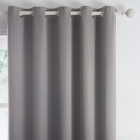 Indiana Grey Eyelet Curtains Grey