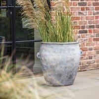 Yasin Floorstanding Plant Pot Light Grey