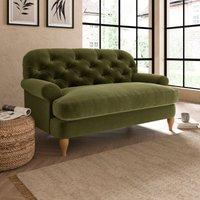 Canterbury Luxury Velvet Snuggle Chair Luxury Velvet Olive