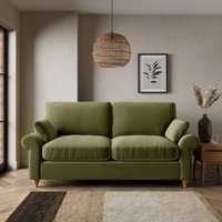 Salisbury Luxury Velvet 2 Seater Sofa Bed Luxury Velvet Olive