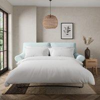 Salisbury Slub Cotton 2 Seater Sofa Bed Slub Cotton Light Mineral