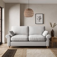 Salisbury Textured Weave 2 Seater Sofa Bed Textured Weave Silver