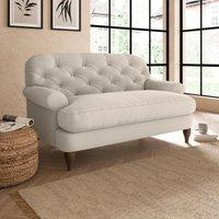 Canterbury Luxury Velvet Snuggle Chair Luxury Velvet Natural