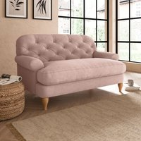 Canterbury Luxury Velvet Snuggle Chair Luxury Velvet Peach Blush