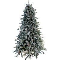 7.5ft Snow Dorchester Slim Christmas Tree White