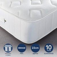 Fogarty Dreamy Comfort Memory Foam Top 1000 Pocket Sprung Mattress Yellow