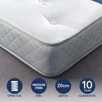 Fogarty Just Right Orthopaedic Open Coil Mattress White
