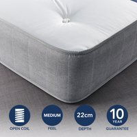 Fogarty Just Right Extra Comfort Open Coil Mattress White