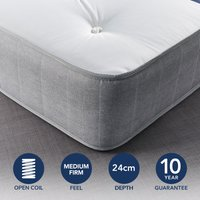 Fogarty Just Right Extra Comfort Orthopaedic Open Coil Mattress White