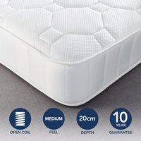 Fogarty Just Right Gel Top Orthopaedic Open Coil Mattress White