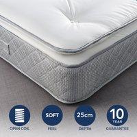 Fogarty Just Right Pillow Top Open Coil Mattress White