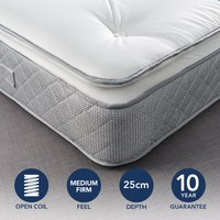 Fogarty Just Right Pillow Top Orthopaedic Open Coil Mattress White