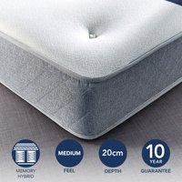 Fogarty Just Right Memory Foam Top Open Coil Mattress White