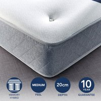 Fogarty Just Right Memory Foam Top Orthopaedic Open Coil Mattress White