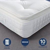 Fogarty Dreamy Comfort Pillow Top 1000 Pocket Sprung Mattress Yellow