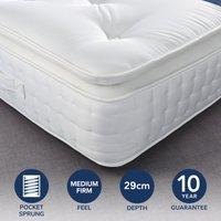 Fogarty Premium Pillow Top 2000 Pocket Sprung Mattress Yellow