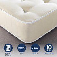 Fogarty Dreamy Comfort Eco Cotton 1000 Pocket Sprung Mattress Yellow