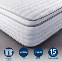 Hotel Memory Foam Pillow Top 2000 Pocket Sprung Mattress White